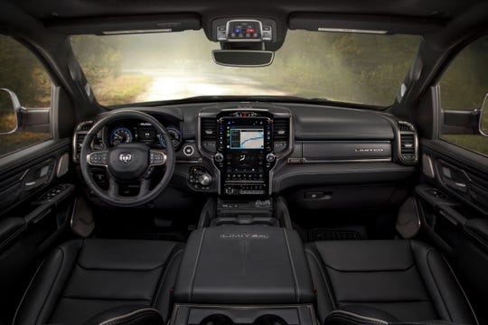 The interior of the 2020 Ram 1500 Limited is full of luxury touches.