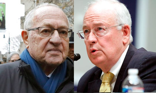 Attorney Alan Dershowitz, left, and former independent counsel Ken Starr.