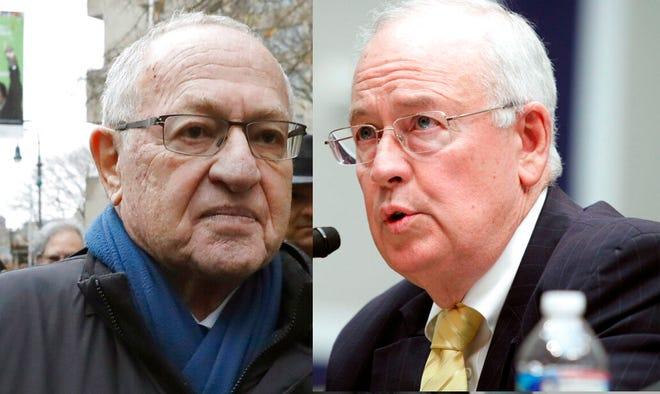 Attorney Alan Dershowitz, left, and former independent counsel Ken Starr.