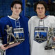Red Wings draft picks Ethan Phillips, left, and Robert Mastrosimone were named MVPs at last year's All-American All-Star game in Nebraska.