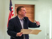 Michigan State Sen. Peter Lucido, R-Shelby Township, addresses a crowd of 60 people on Friday, January 17, 2020, in Washington Township.