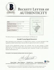 Letter of Authenticity from Beckett