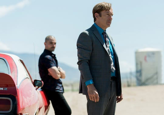 """Bob Odenkirk, right, as Jimmy McGill and Michael Mando, left, as Nacho Varga in """"Better Call Saul."""""""