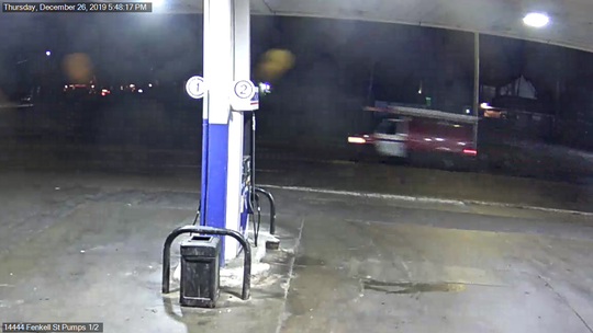 Detroit police are looking for the driver of this red work van that investigators believe struck and killed a woman Dec. 26 in the area of Fenkell and Freeland.
