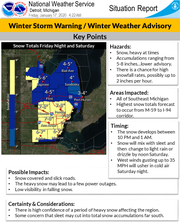 The National Weather Service says snow will develop between 10 p.m. and 1 a.m.