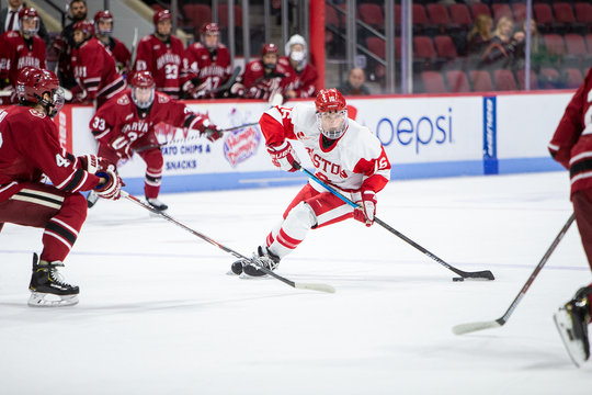 Red Wings draft pick Robert Mastrosimone has 12 points in 19 games in his freshman season with Boston University.