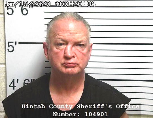 This Thursday, Jan. 16, 2020 booking photo provided by the Uintah County, Utah, Sheriff's Office shows Gregory Kehl.