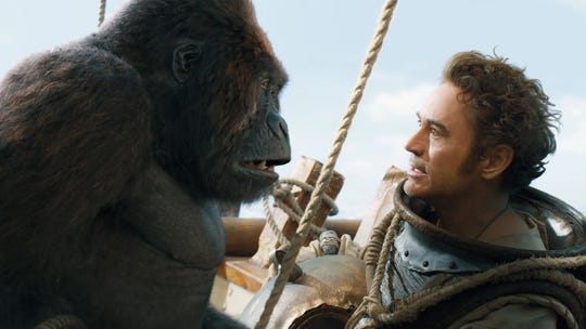 """A gorilla voiced by Rami Malek and Robert Downey Jr. in """"Dolittle."""""""