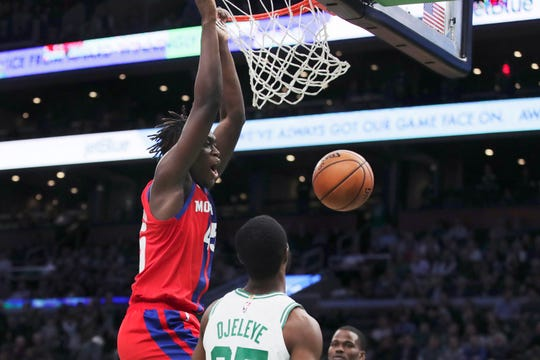 Sekou Doumbouya helped the Pistons to their best shooting night (60.3 percent) in nearly a decade on Wednesday in Boston.