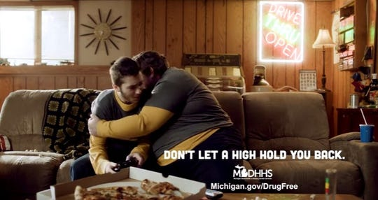The Michigan Department of Health and Human Services is sponsoring ads that are meant to caution young people about using marijuana.