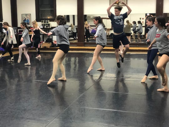 """Sam Arnts (center right) will star as Prince Charming in 171 Cedar Arts Center'sStory Ballet production of """"Cinderella"""" at the Corning Museum of Glass Saturday and Sunday."""