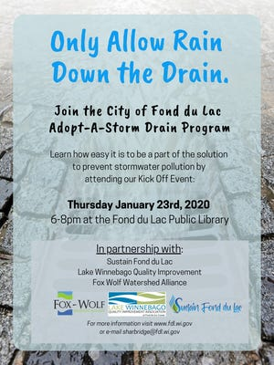 The city is asking resident to adopt a storm drain to help prevent storm water pollution.