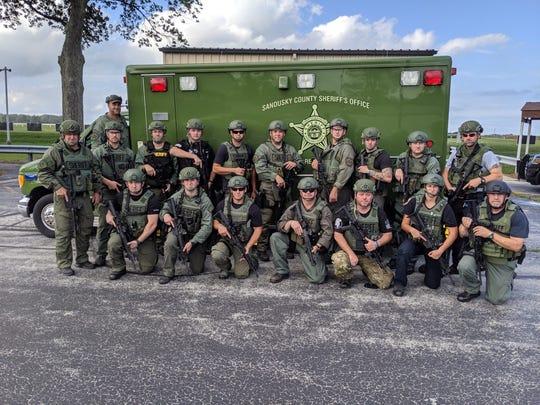 The Sandusky County Regional Special Response Team.