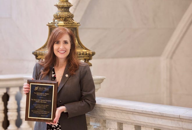 Senator Theresa Gavarone named Legislator of the Year by the Ohio Association of Election Officials.