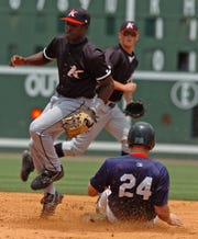 John Shelby III, left, who played in Greenville as a member of the Kannnapolis Intimidators in 2007, will serve as the Drive's assistant hitting coach in 2019.