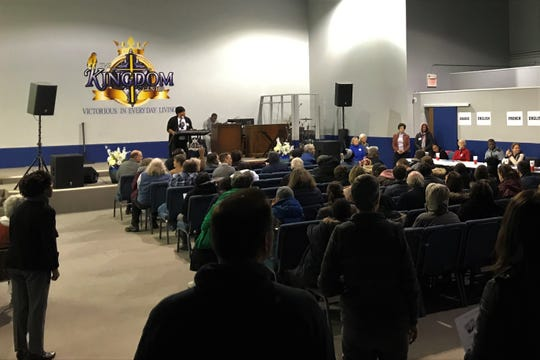 On Thursday night, 100 people filled up The Kingdom Center Church in Iowa City to learn and ask questions about the Iowa Caucuses.