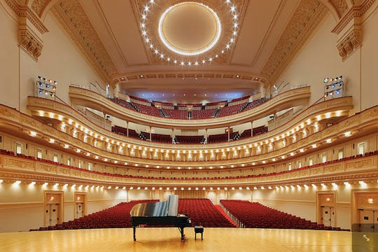 Carnegie Hall in New York City.