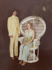 John Large with his then-girlfriend, Tonya, at their high-school prom.
