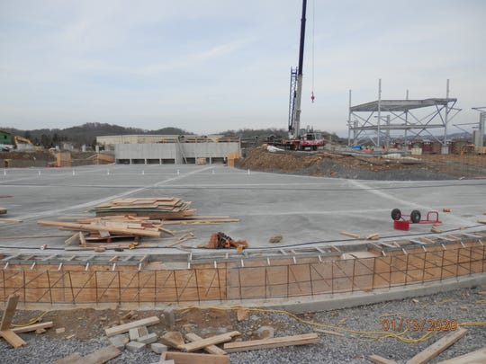 Soaky Mountain Waterpark's wave pool is coming together at its location, 175 Gists Creek Road, Sevierville.