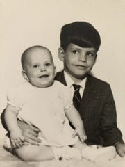 Amy Large with her older brother, John Large.