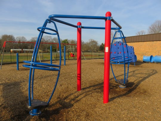 Some of the current equipment at the West Hills Elementary playground on Jan. 13, 2020.