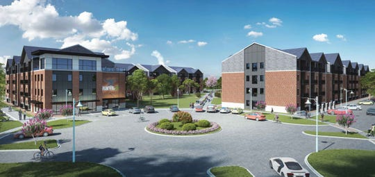 Anvil 38 is a proposed apartment complex with 411 bedrooms at the edge of Ivy Tech Community College's Lafayette campus. While the complex will not be a residence hall, the project would be aimed at Ivy Tech students, developers and Ivy Tech officials say.