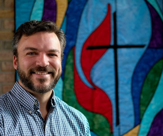 Jay Makowski, lay leader at University United Methodist Church in East Lansing, shown Jan. 17, 2020, is a gay man who joined the Methodist Church despite the bans on same-sex weddings and gay clergy.