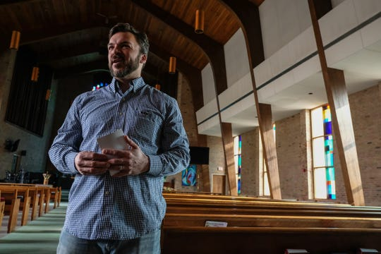 Jay Makowski, lay leader at University United Methodist Church in East Lansing, talks about the split in his church over gay marriage Friday, Jan. 17, 2020.