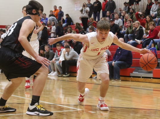Plymouth's Walker Elliott has the Big Red at No. 6 in this week's power poll.