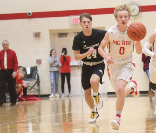 Plymouth's Clayton Miller drained a buzzer-beating 3-pointer to help the Big Red beat Crestview last week.