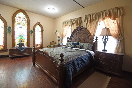 The Honeymoon Suite at the Old Franklin Church Wedding and Event Space.