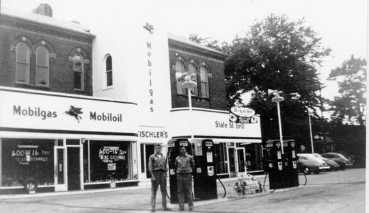 Tischler's Mobil station was one of 32 gas stations in Fremont in the mid-1950s.