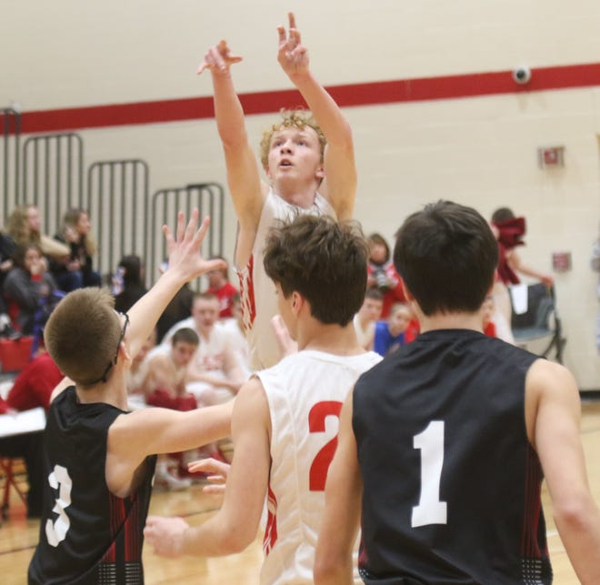 Plymouth's Clayton Miller leads the Big Red into battle with Buckeye Central on Friday night.