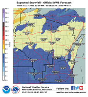 Snow is forecast across Wisconsin on Friday into Saturday.