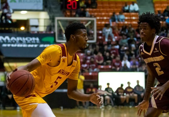 Forward Tyree White (5) was one of three scorers in double figures at Arkansas State and led the Warhawks with 18 points.
