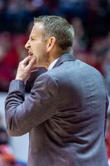 Alabama head coach Nate Oats reacts to a call by the refs during the second half of an NCAA college basketball game against Auburn, Wednesday, Jan. 15, 2020, in Tuscaloosa, Ala. Alabama upset No. 4 Auburn 83-64. (AP Photo/Vasha Hunt)