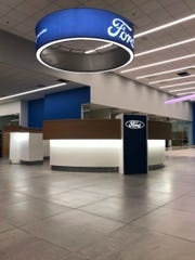 A view of the front desk at the new Hubler Ford. The new location will open Monday, Jan. 20.