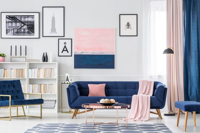 Drapery, furnishings and artwork are ideal ways to incorporate Classic Blue, Pantone's 2020 color of the year, into your decor.