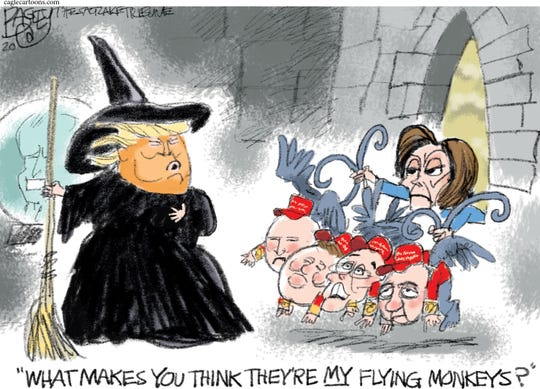 Trump, Pelosi and flying monkeys.