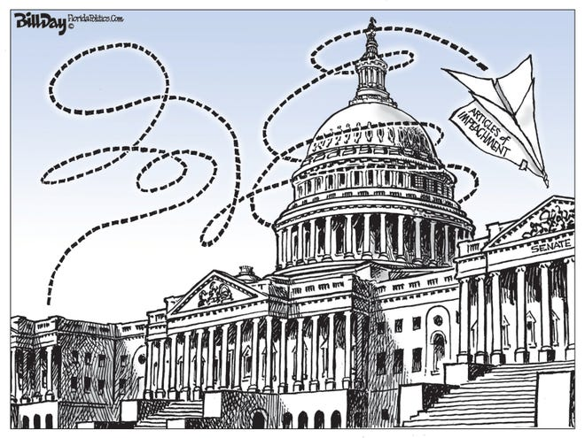 Impeach articles reach Senate.