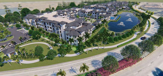 A rendering of apartments planned off of Via Coconut Point in Estero.