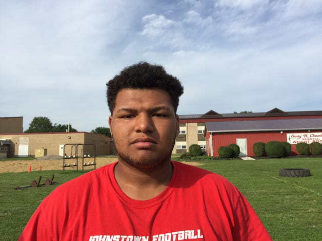 Corey Bias, a former Johnstown student and football lineman, was found dead Friday morning at Ohio State University. He is pictured here in a 2017 file photo.