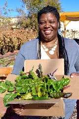 Jamilah Murray is a member of the Rio Grande Food Project community garden. She enjoys harvesting and tasting vegetables that she had not raised before.
