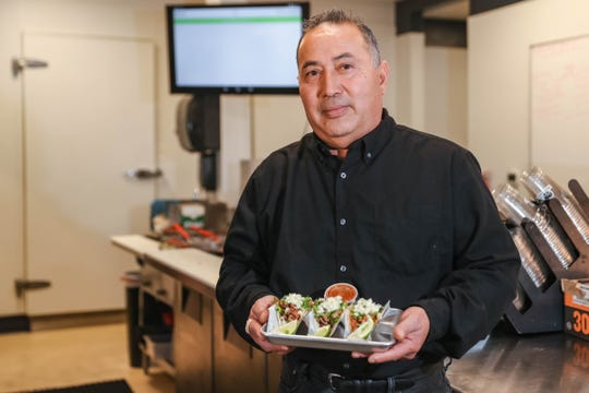 For 14 years, the Taqueria Chavez food truck served tacos and burritos in a dirt lot to a loyal clientele. But Gonzalo Chavez, pictured Friday, Jan. 17, 2020, always dreamed of running a restaurant out of a building. That dream came true in September 2019.