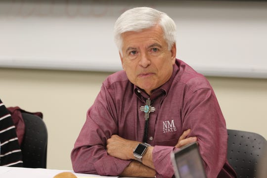 New Mexico State University Chancellor Dan Arvizu speaks during an NMSU Board of Regents meeting, Jan. 16, 2020 at NMSU Carlsbad.