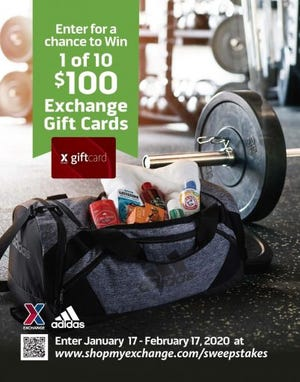 Military shoppers can give their fitness goals a boost with the Army & Air Force Exchange Service's Fill Your Gym Bag sweepstakes.