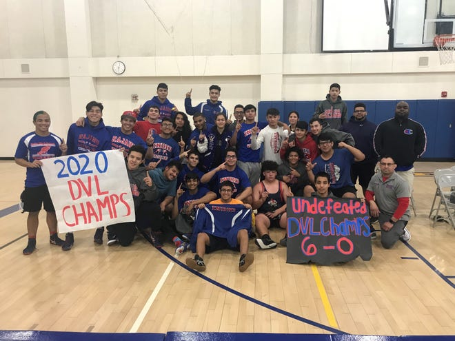 The Indio wrestling team won its first league title since 2003 with a perfect 6-0 record in DVL play this year.