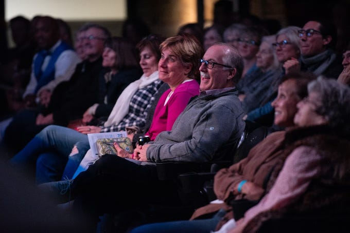 The audience listens during Arizona Storytellers Project Presents New Beginnings & Fresh Starts on Jan. 14, 2020, at The Van Buren in Phoenix.