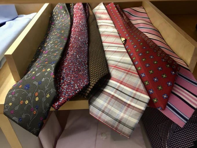 Ties on display at Brothers Tailors.