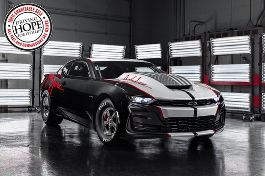 Chevrolet and John Force Racing have teamed up for the 2020 COPO Camaro John Force Edition, with a black-and-silver paint scheme, signature graphics on the exterior, a ghosted American flag on the hood and enhancements to the interior.